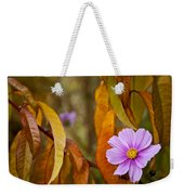 The Cosmos In The Peach Tree Weekender Tote Bag