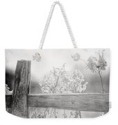 The Country Fence In Black And White Weekender Tote Bag