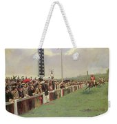 The Course At Longchamps Weekender Tote Bag by Jean Beraud