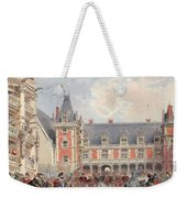 The Court In Chateaus Of The Loire Weekender Tote Bag