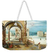 The Courtyard Of A Renaissance Palace Weekender Tote Bag