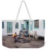 The Cow In The Yard Weekender Tote Bag