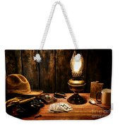 The Cowboy Nightstand Weekender Tote Bag