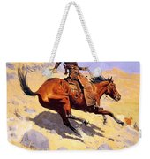 The Cowboy With Quote Weekender Tote Bag