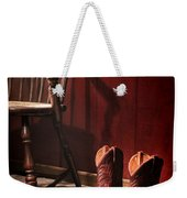 The Cowgirl Boots And The Old Chair Weekender Tote Bag