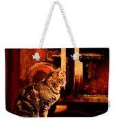 The Crane Yard Cat Weekender Tote Bag