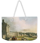 The Crescent, From Bath Illustrated Weekender Tote Bag by John Claude Nattes