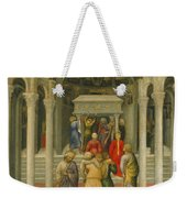 The Crippled And Sick Cured At The Tomb Of Saint Nicholas Weekender Tote Bag by Gentile da Fabriano