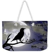 The Crow And Moon Weekender Tote Bag