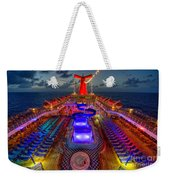 The Cruise Lights At Night Weekender Tote Bag