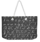 The Cursive Alphabet Weekender Tote Bag