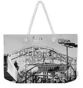 The Cyclone In Black And White Weekender Tote Bag
