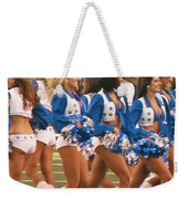 The Dallas Cowboys Cheerleaders Weekender Tote Bag by Donna Wilson