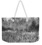 The Dance Of The Cattails Bw Weekender Tote Bag