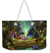 The Dancing Auroras Weekender Tote Bag