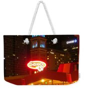 The Daniels And  Fisher Tower At Night Weekender Tote Bag