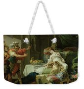 The Death Of Cleopatra, 1755 Oil On Canvas Weekender Tote Bag