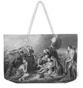 The Death Of General Wolfe, 1759, From The History Of The United States, Vol. I, By Charles Mackay Weekender Tote Bag