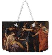 The Death Of Lucretia Weekender Tote Bag