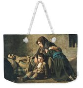 The Death Of The Pauper Oil On Canvas Weekender Tote Bag