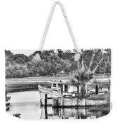 The Debbie-john Shrimp Boat Weekender Tote Bag