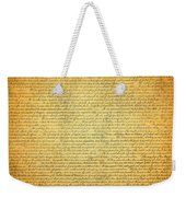 The Declaration Of Independence - America's Founding Document Weekender Tote Bag