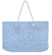 The Declaration Of Independence In Cyan Weekender Tote Bag