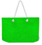 The Declaration Of Independence In Green Weekender Tote Bag