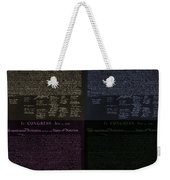 The Declaration Of Independence In Negative Colors Weekender Tote Bag