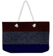 The Declaration Of Independence In Negative R W B 1 Weekender Tote Bag