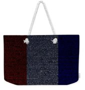 The Declaration Of Independence In Negative R W B Weekender Tote Bag by Rob Hans