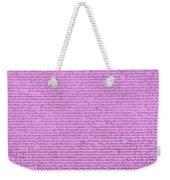 The Declaration Of Independence In Pink Weekender Tote Bag