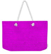 The Declaration Of Independence In Purple Weekender Tote Bag by Rob Hans