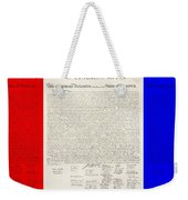 The Declaration Of Independence In Red White And Blue Weekender Tote Bag by Rob Hans