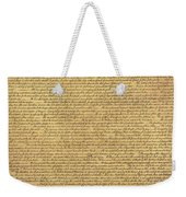 The Declaration Of Independence In Sepia Weekender Tote Bag