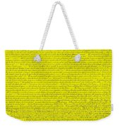 The Declaration Of Independence In Yellow Weekender Tote Bag