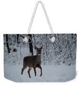 The Deer In The Snow Weekender Tote Bag