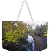The Delaware Canal In Morrisville Pa Weekender Tote Bag