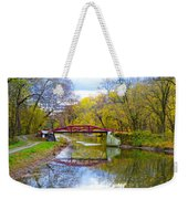 The Delaware Canal Near New Hope Pa In Autumn Weekender Tote Bag