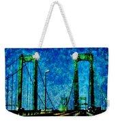 The Delaware Memorial Bridge Weekender Tote Bag by Angelina Vick