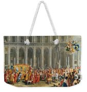 The Departure Of Alois Thomas Von Harrach, Viceroy Of Naples 1669-1742 From The Palazzo Reale Di Weekender Tote Bag