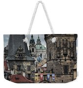 The Depths Of Prague Weekender Tote Bag by Joan Carroll