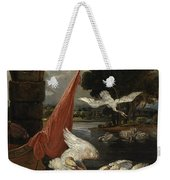 The Descent Of The Swan, Illustration Weekender Tote Bag