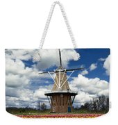 The Dezwaan Dutch Windmill Among The Tulips On Windmill Island In Holland Michigan Weekender Tote Bag
