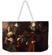 The Dismissal Of Hagar, 1650 Weekender Tote Bag by Jan Victors