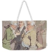 The Doctors Consultation, 1815-1820 Pen And Ink And Wc Over Graphite On Paper Weekender Tote Bag