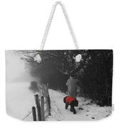 The Dog In The Red Coat Weekender Tote Bag