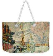 The Dogana Weekender Tote Bag by Paul Signac