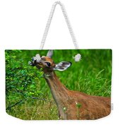 The Dreaded Deer Giraffe Weekender Tote Bag