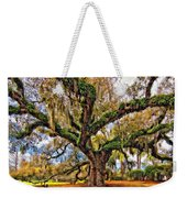 The Dueling Oak Painted Weekender Tote Bag